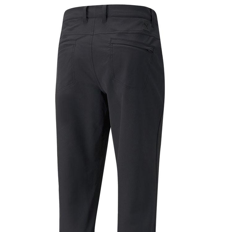 Puma Pantalon Jackpot Utility Noir Gros Plan De Dos Golf Plus