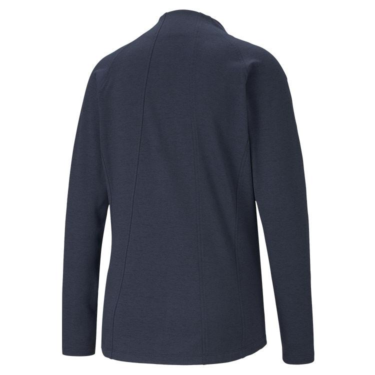 Puma Polaire Zip Femme Bleu De Dos Golf Plus