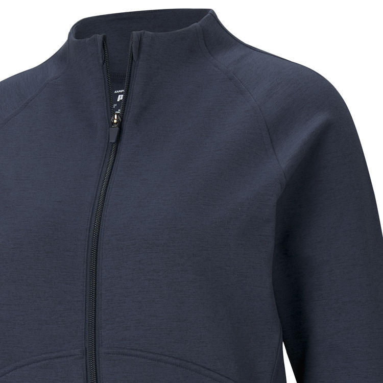 Puma Polaire Zip Femme Bleu Gros Plan Poitrine Golf Plus