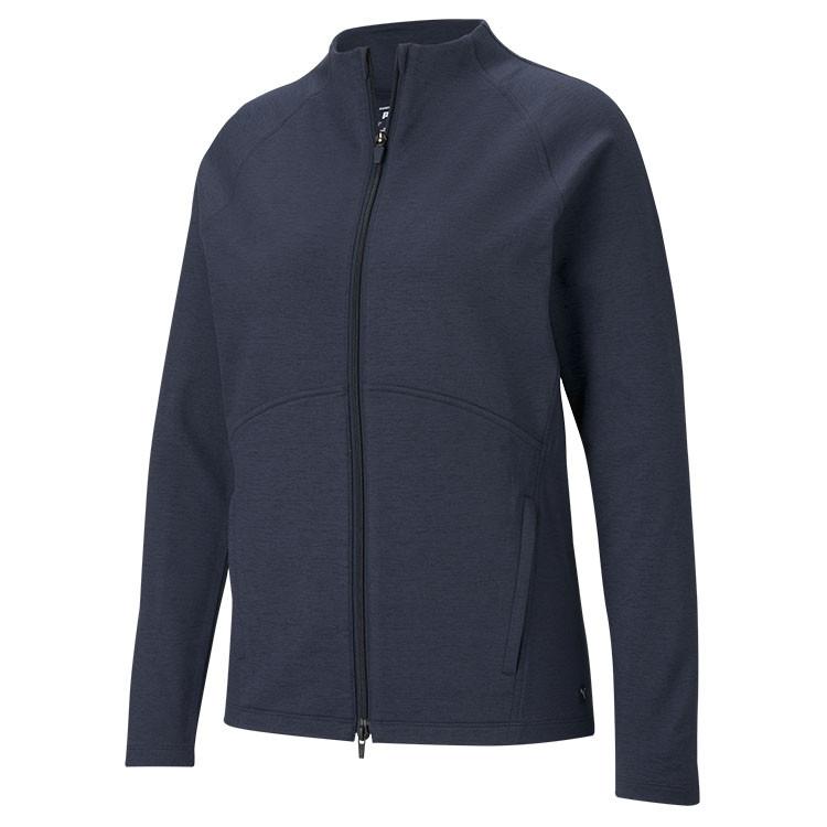 Puma Polaire Zip Femme Bleu Grand Angle Golf Plus