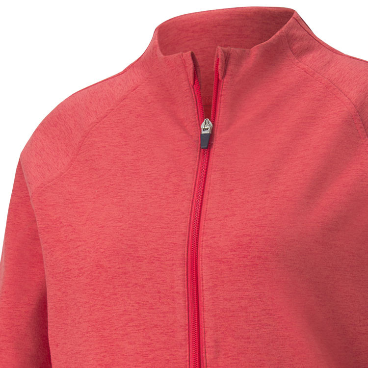 Puma Polaire Zip Femme Rouge Gros Plan Poitrine Golf Plus