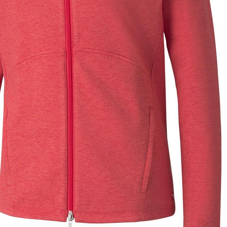 Puma Polaire Zip Femme Rouge Gros Plan Poche Golf Plus