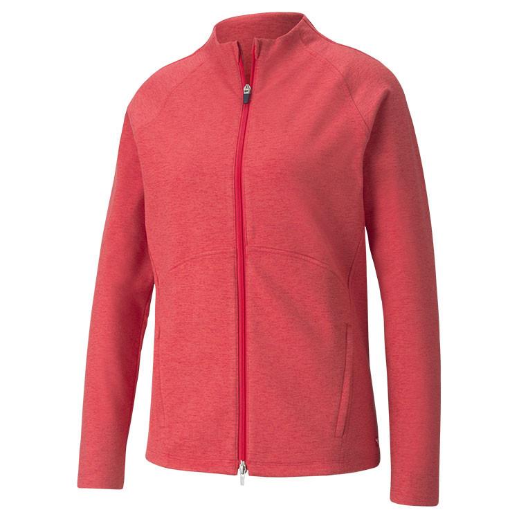 Puma Polaire Zip Femme Rouge Grand Angle Golf Plus