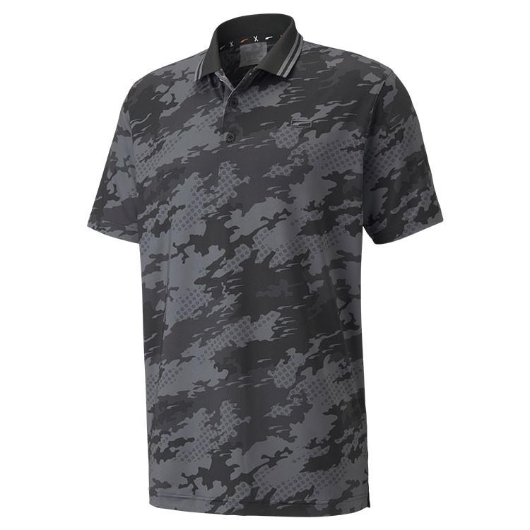 Puma Polo Camouflage Noir Grand Angle Golf Plus