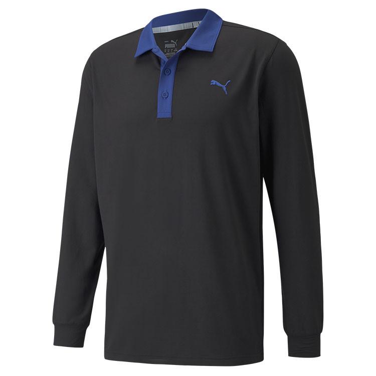 Puma Polo Cloudspun Longsleeve Bleu Marine Grand Angle Golf Plus