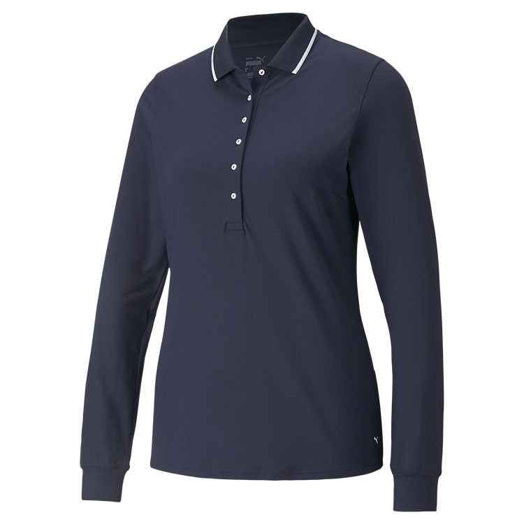 Puma Polo Manches Longues Femme Navy Grand Angle Golf Plus