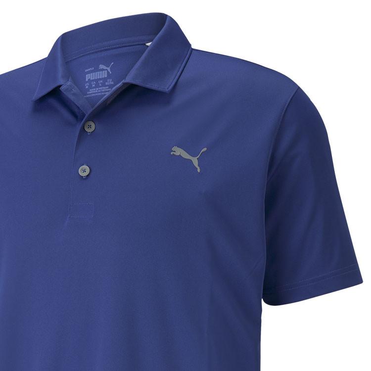Puma Polo Rotation Homme Uni Bleu Gros Plan Golf Plus