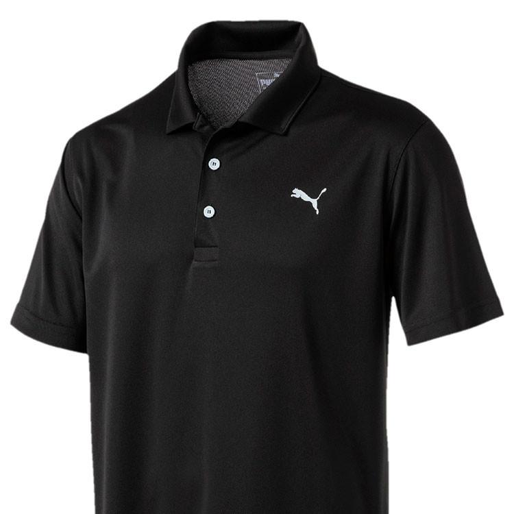 Puma Polo Rotation Homme Uni Noir Gros Plan Golf Plus