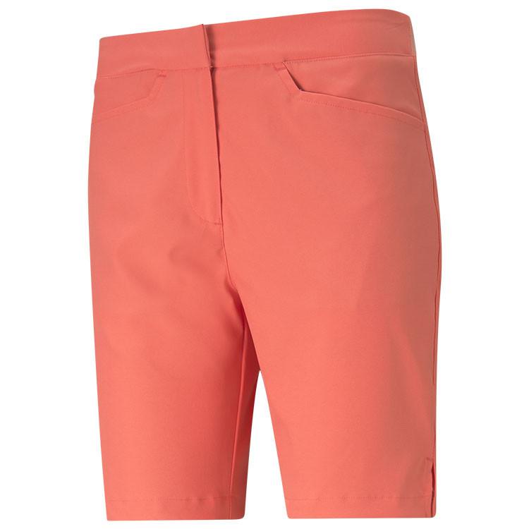 Puma Bermuda Uni Orange Corail Femme Golf Plus