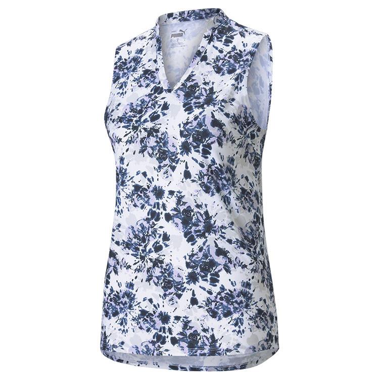 Puma Polo Fleural Sm Bleu Marine Femme Golf Plus