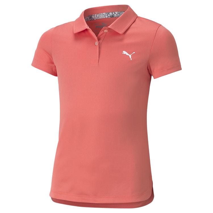 Puma Polo Junior Essential Orange Corail Fille Golf Plus