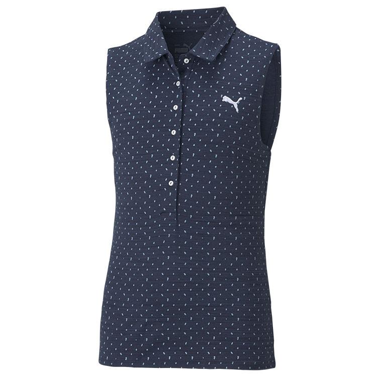 Puma Polo Junior Motif Sm Bleu Marine Blanc Golf Plus