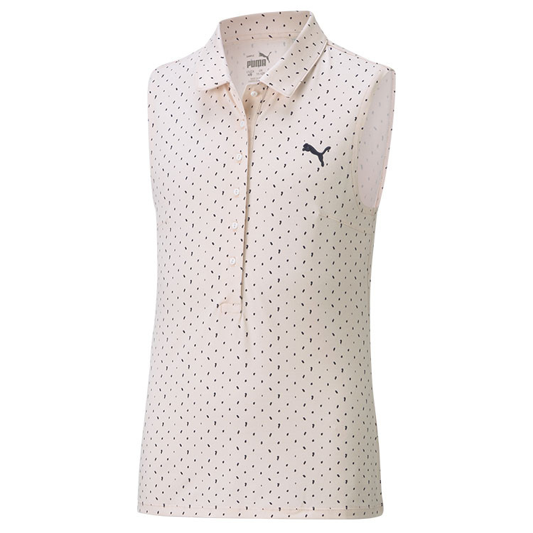 Puma Polo Junior Fille Motif Sm Rose/Noir Golf Plus
