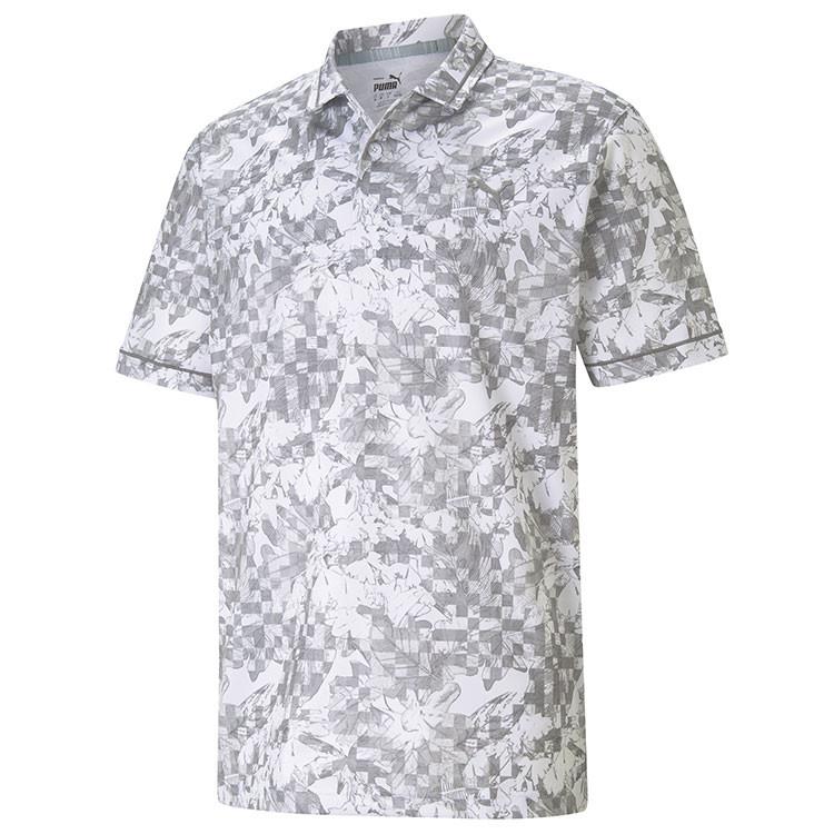 Puma Polo Botanique Gris/Blanc Homme Golf Plus