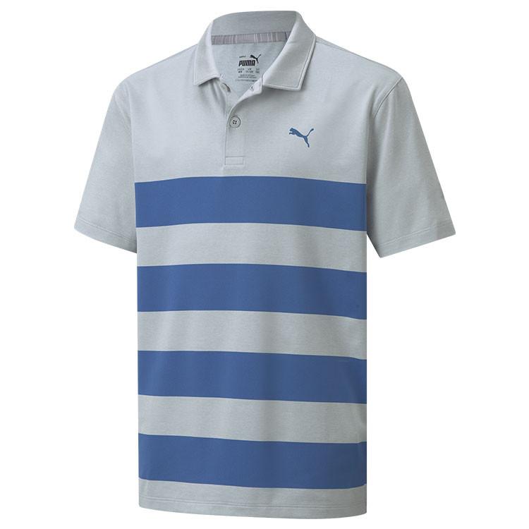 Puma Polo Kiwi Rayé Junior Gris/Bleu Garçon Golf Plus