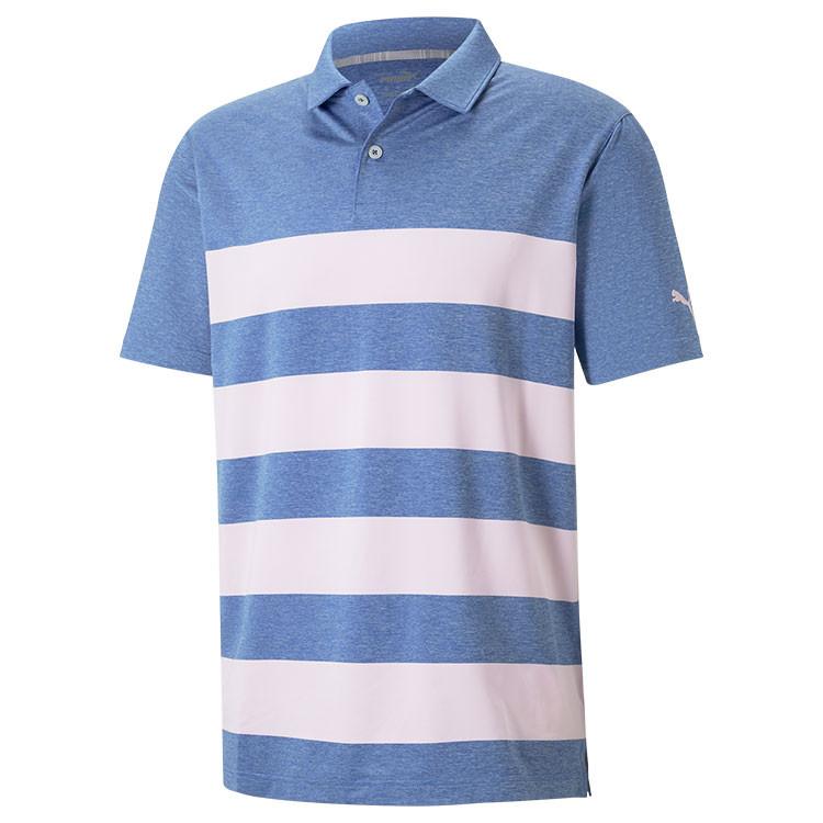 Puma Polo Kiwi Raye Bleu/Rose Homme Golf Plus