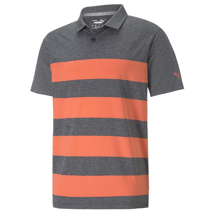 Puma Polo Kiwi Raye Gris/Orange Homme Golf Plus