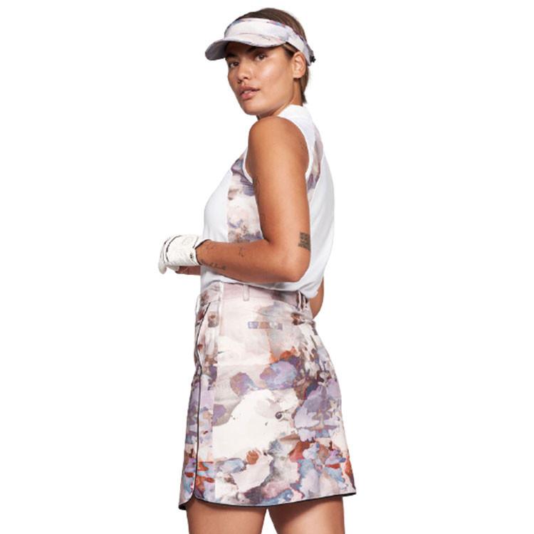 polo-de-golf-femme-polo-golf-femme-polo-de-golf-sans-manches-blanc-rose-beige-morif-fleure-fleuri-fleuris-golf-plus