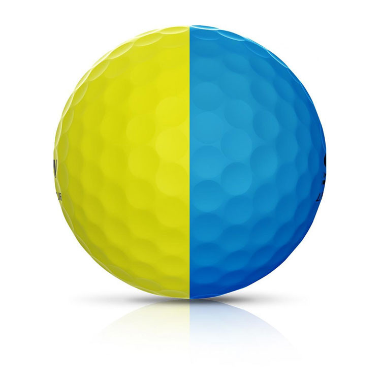 Srixon - Balles Bicolores Q-Star Tour Divine ligne Jaune/bleu