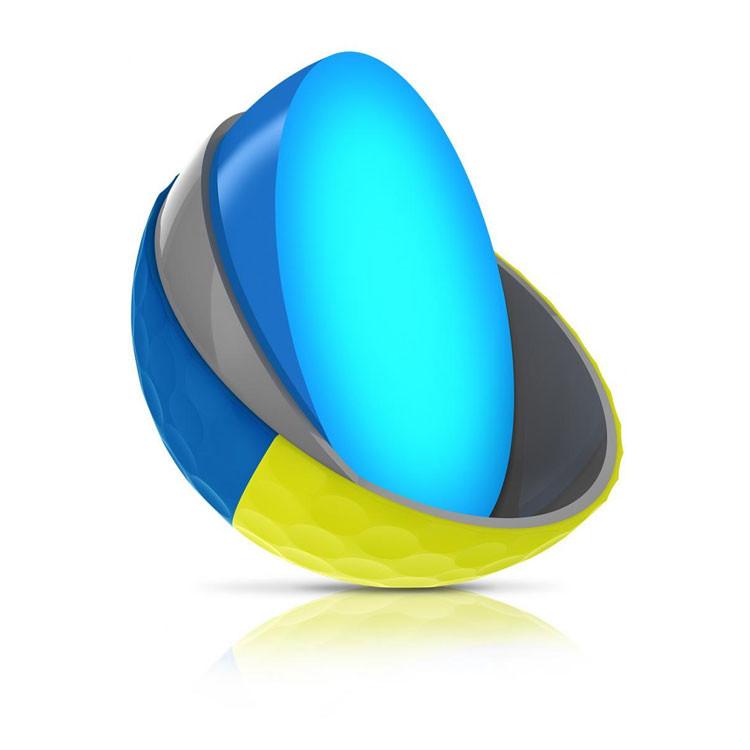 Srixon - Balles Bicolores Q-Star Tour Divine Jaune/bleu 3 pieces