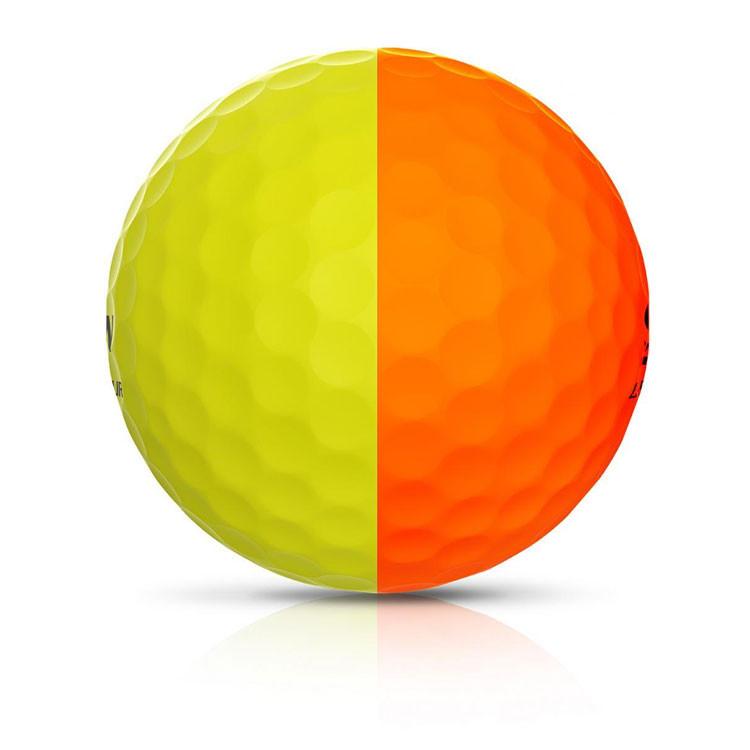 Srixon - Balles Bicolores Q-Star Tour Divine ligne Jaune/orange