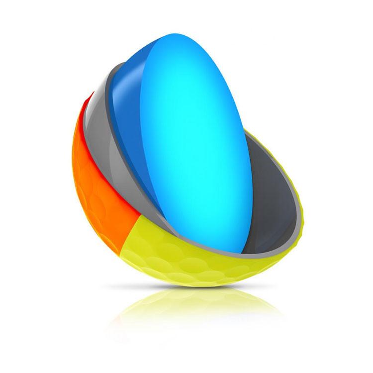 Srixon - Balles Bicolores Q-Star Tour Divine Jaune/Orange 3 pieces