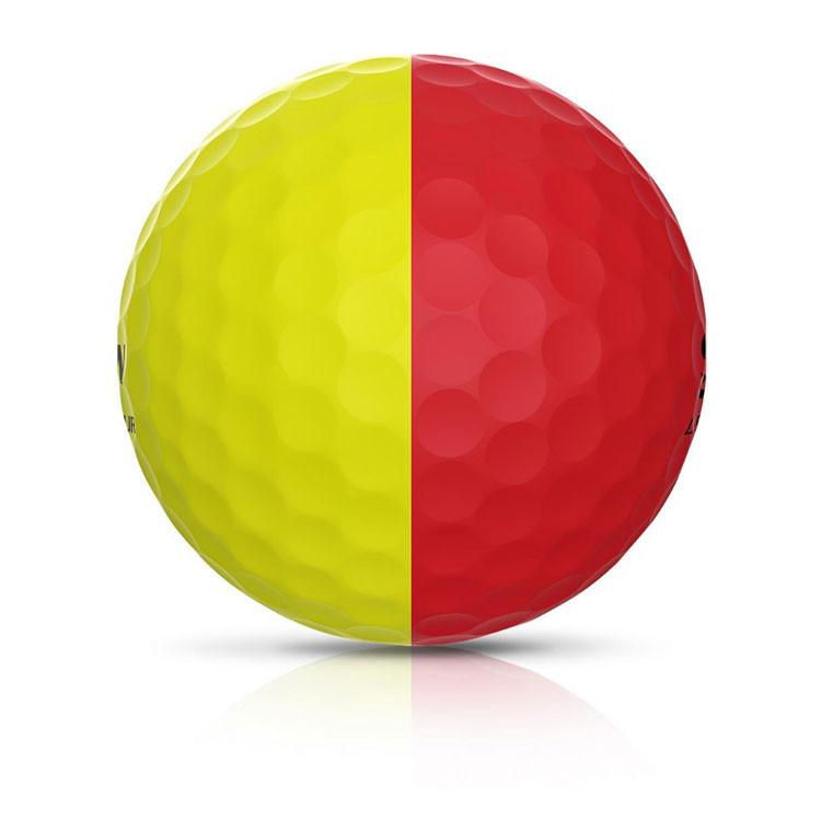 Srixon - Balles Bicolores Q-Star Tour Divine ligne Jaune/rouge