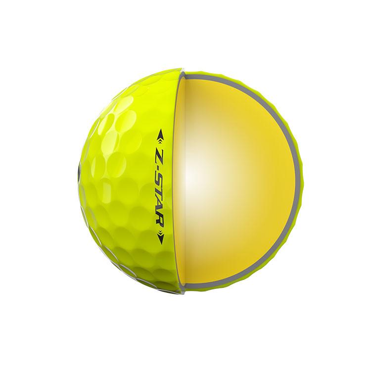 Srixon-Balles-De-Golf-Z-Star-Jaune-Couches-3-Pièces-Techniques-Coupe-Moitié