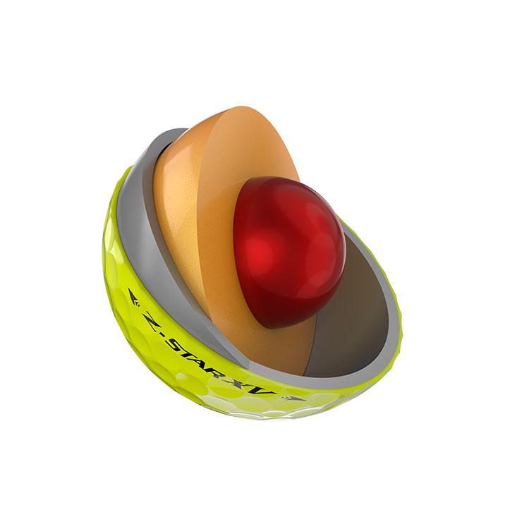 Srixon-Balles-De-Golf-Z-Star-XV-jaune-Couches-4-Pièces-Techniques
