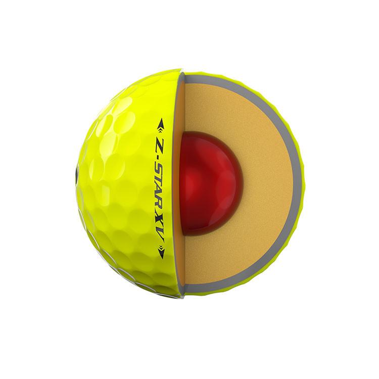 Srixon-Balles-De-Golf-Z-Star-XV-jaune-Couches-4-Pièces-Techniques-Coupe-Moitié