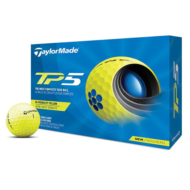 TaylorMade - Balles de golf TP5 jaune
