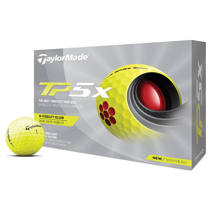 TaylorMade - Balles de golf TP5x jaune