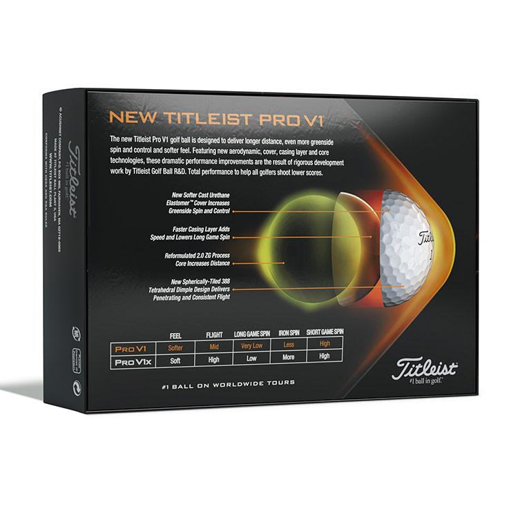 TITLEIST - BALLES DE GOLF PRO V1 2021 BLANC