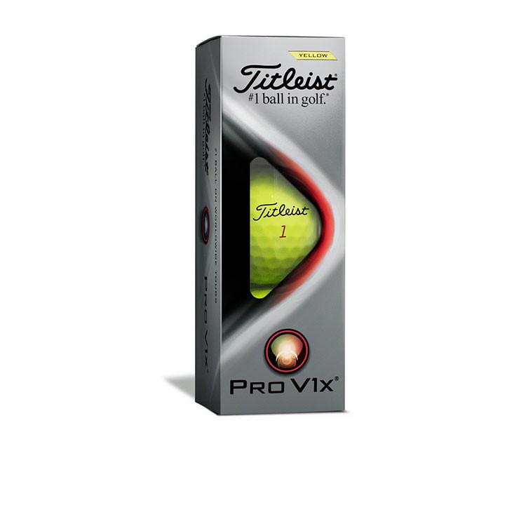 Titleist - Balles de golf Prov1x 3 balles jaune