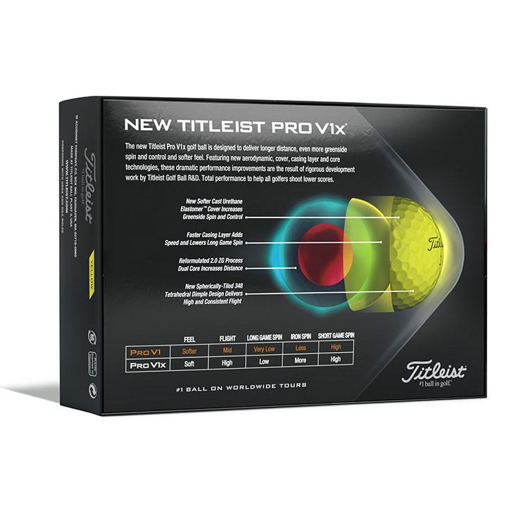 Titleist - Balles de golf Prov1X 12 balles jaune