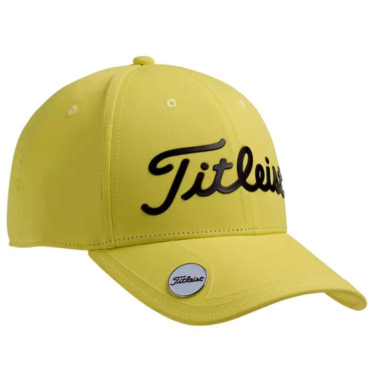 TITLEIST---CASQUETTE-JUNIOR-PERFORMANCE-BALL-MARKER-JAUNE-golf-plus.