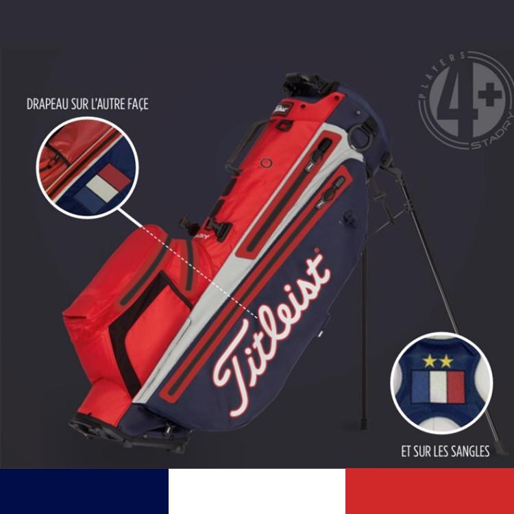 Titleist sac Players 4 Plus Stadry Trepied SMU France Golf Plus