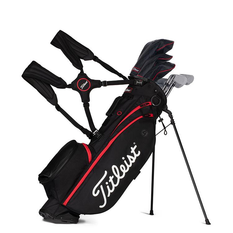 Titleist Sac Players 4 Trepied Noir/Rouge Golf Plus