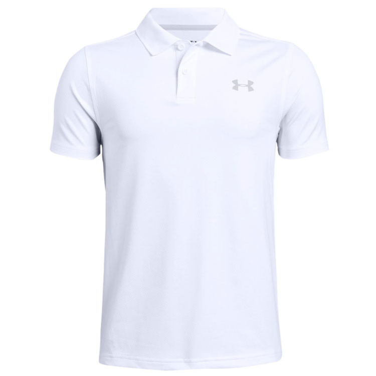 UNDER ARMOUR - POLO JUNIOR PERFORMANCE  BLANC - 1