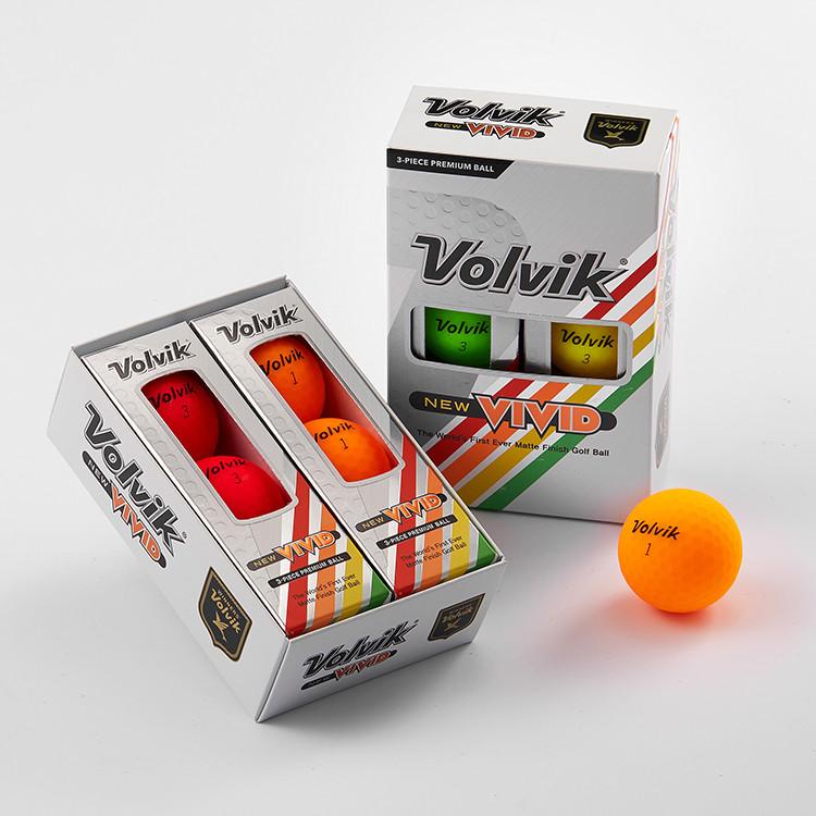 VOLVIK - 6 BALLEs VIVID rouge-orange