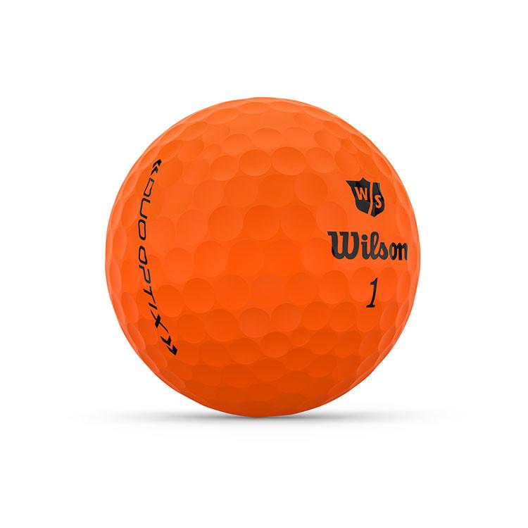 WILSON - BALLES DE GOLF DUO OPTIX ORANGE 2